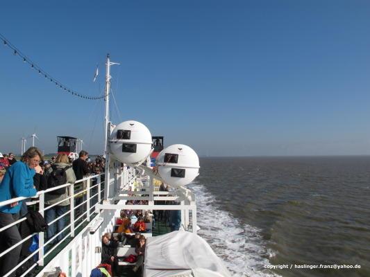 Überfahrt von Emden nach Borkum