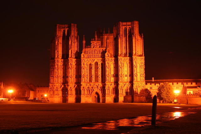 Wells Cathedral bei Nacht