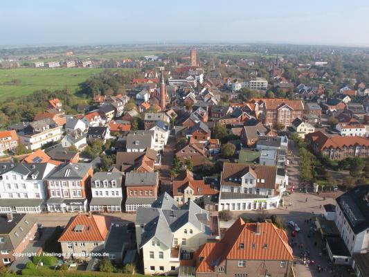 Die Stadt Borkum vom Neuen Leuchtturm aus