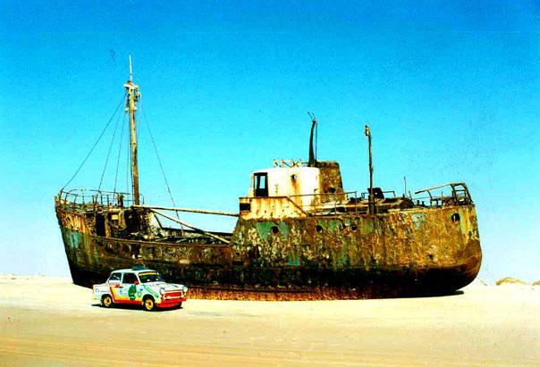 Zwei Wüstenschiffe