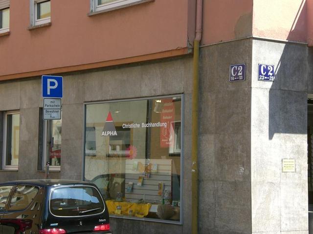 Die Alpha-Buchhandlung in Mannheim