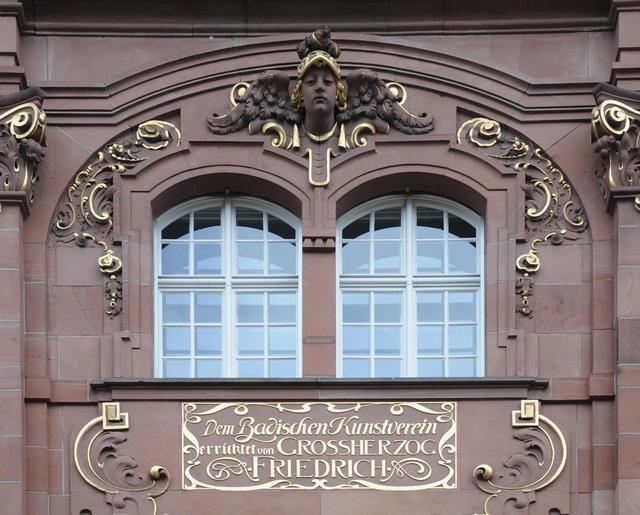Inschrift am Badischen Kunstverein