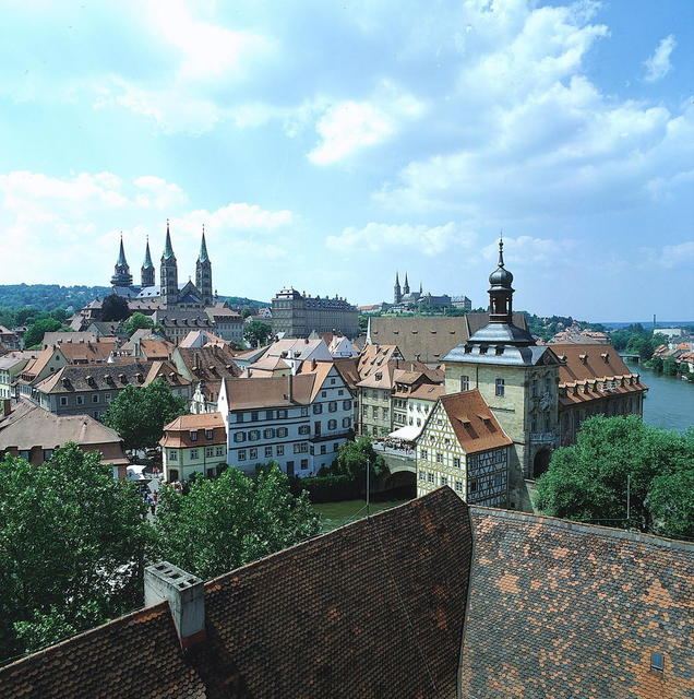 Aussicht vom Turm des Schlosses Geyerswörth in Bamberg