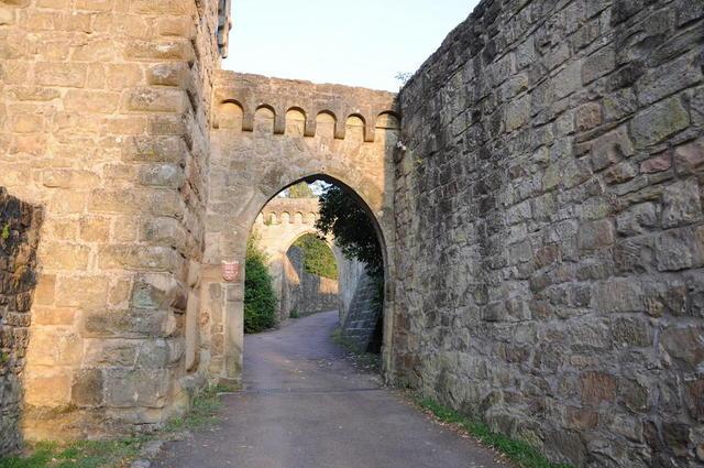 Weg in die Burg Steinsberg