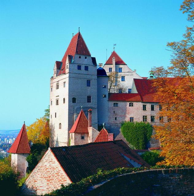 Die Burg Trausnitz in Landshut