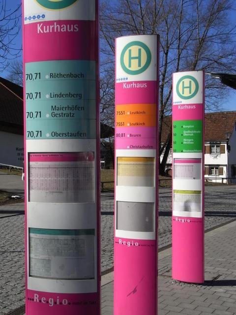 Haltestelle Regiobus Isny