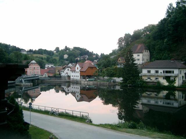 Ilzer Stausee im Passauer Stadtteil Hals