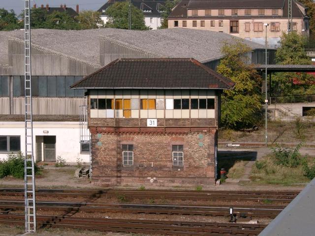 Stellwärterhaus beim Bahnhof Seckenheim/Hochstätt