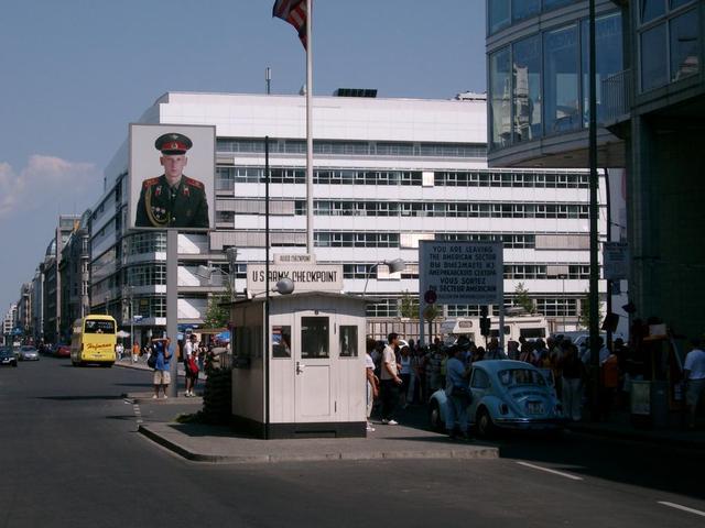 der ehemalige Checkpoint Charlie