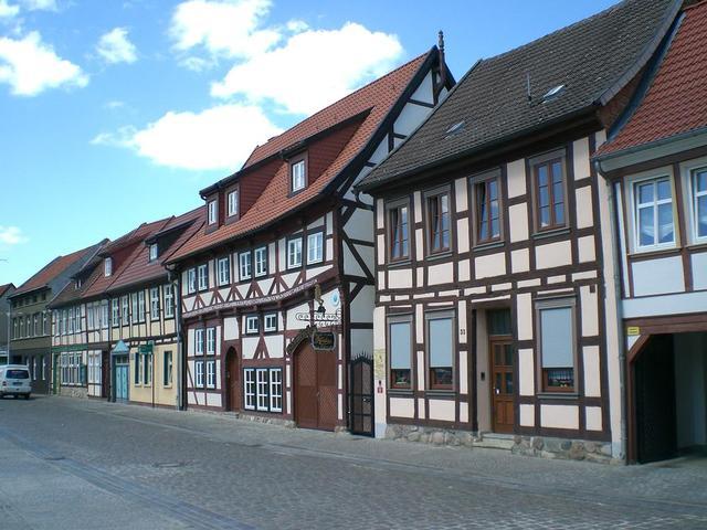 Häuserzeile in Salzwedel