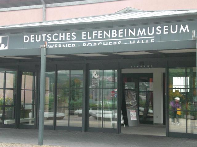 Der Eingang zum Deutschen Elfenbeinmuseum in Erbach