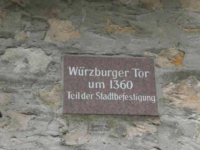 Hinweisschild in Heppenheim