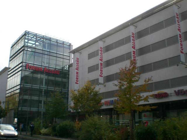 das Einkaufszentrum Forum Allgäu Kempten