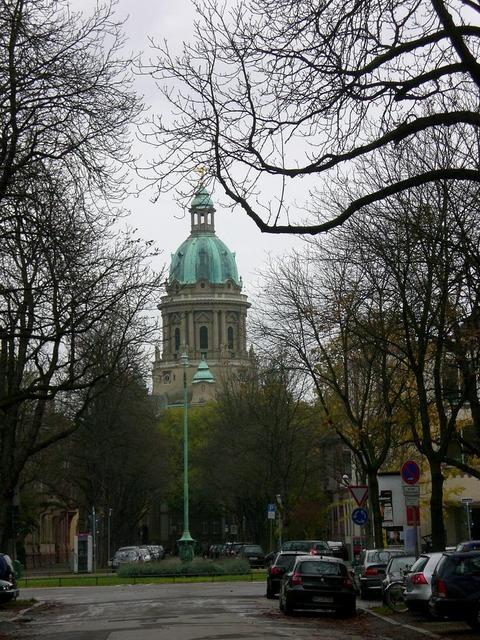 Blick zur Christuskirche Mannheim