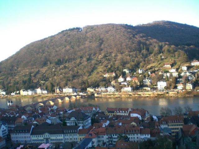Blick zum Philosophenweg gegenüber des Heidelberger Schlosses