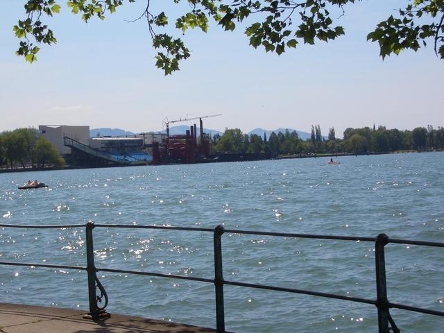 die Seebühne auf dem Bodensee bei Bregenz