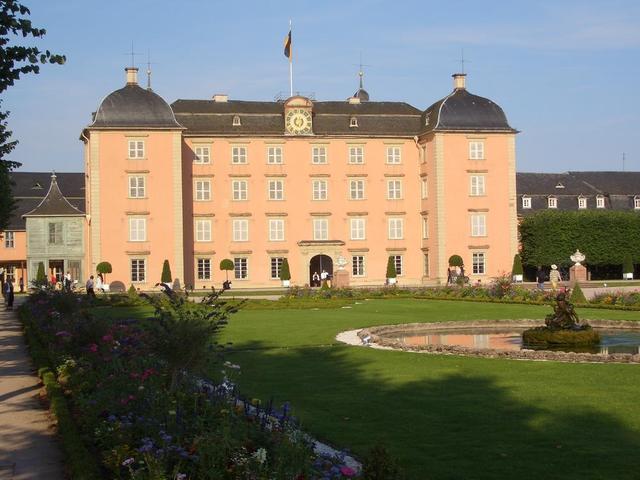 Parkansicht des Schwetzinger Schlosses