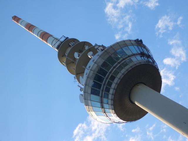 das Dreh-Restaurant im Fernmeldeturm Mannheim