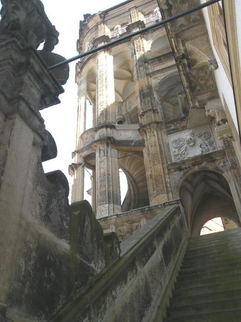 Die Wendelsteintreppe vov Schloss Hartenfels