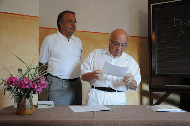 Die beiden Präsidenten des Wengelsbacher Kulturvereins