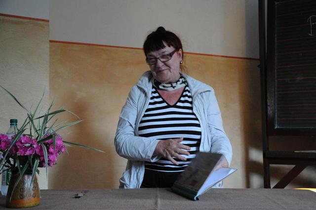 Rosvita Spodeck-Walter beim Wengelsbacher Kultursommer