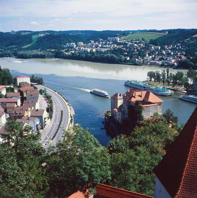 Das Dreiflusseck in Passau