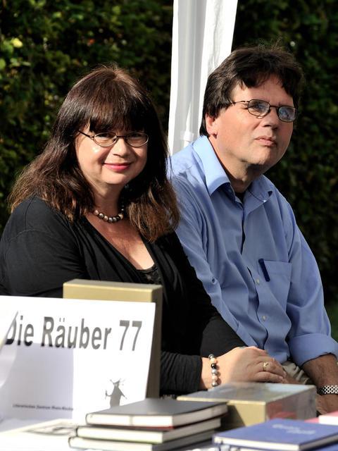 Die Räuber'77 beim Sommerfest der Initiative Buchkulutur im Ludwigshafener Ebert-Park