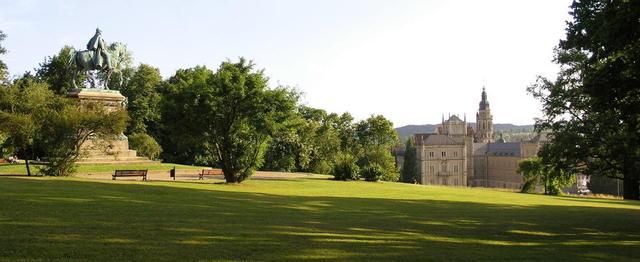 Der Hofgarten von Schloss Ehrenburg in Coburg