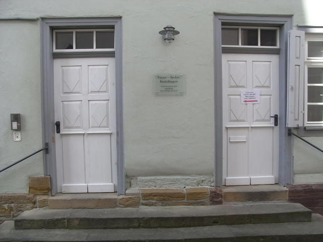 Der Eingang zum Faust-Archiv