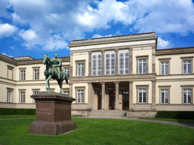 Der Eingang in die Alte Staatsgalerie Stuttgart