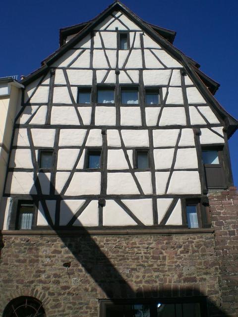 Fachwerkfassade in Neckarsteinach