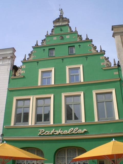 Schönes Haus in Güstrows Fußgängerzone