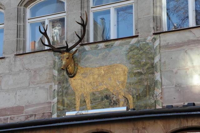 Detail an einer Hausfassade in Nürnberg