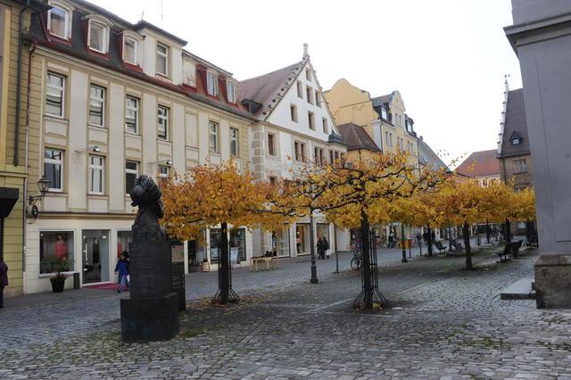 Ein Teil der Fußgängerzone in Ansbach
