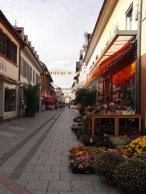 Die Fußgängerzone in Grünstadt