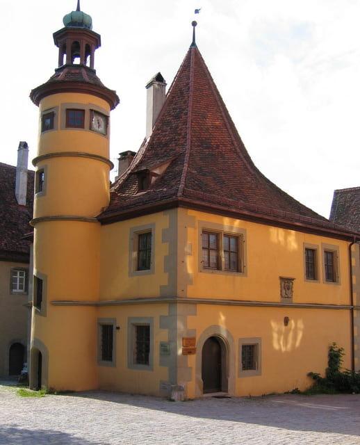 Das Hegereiterhaus in Rothenburg im Hof der Spitalbastei