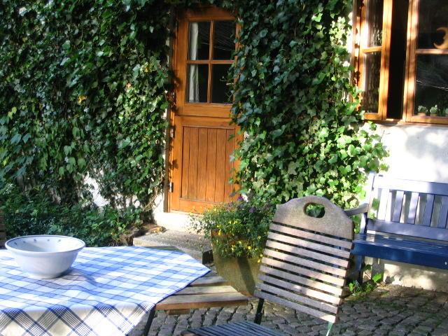 Terrasse FeWo Rutenmühle 8, Christa und Rüdiger Winter