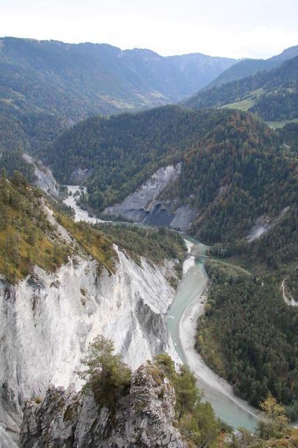 Blick auf die Rheinschlucht