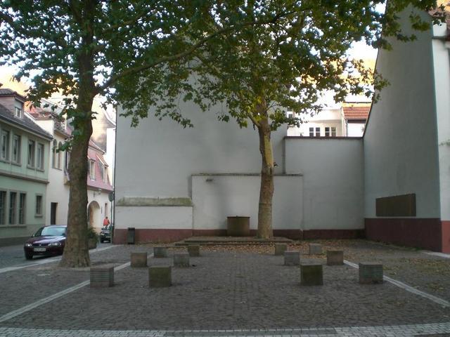 Der Platz, an dem früher die Jüdische Synagoge in Heidelberg stand