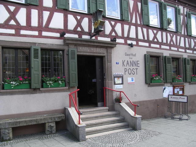 Der Gasthof Kanne - Post in Knittlingen