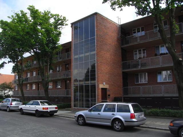 Ein Laubenganghaus in der Siedlung Törten, Dessau