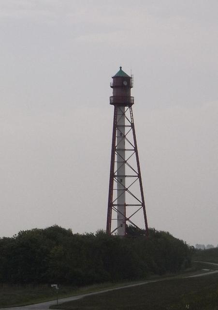 Campener Leuchtturm bei Regen
