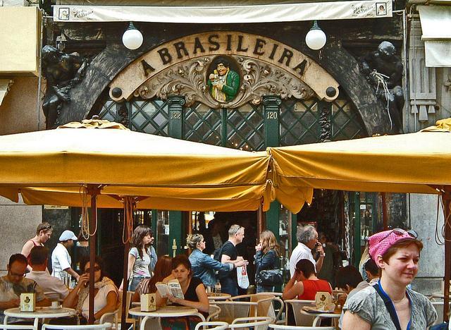 Cafe A Brasileira in der Rua Garrett