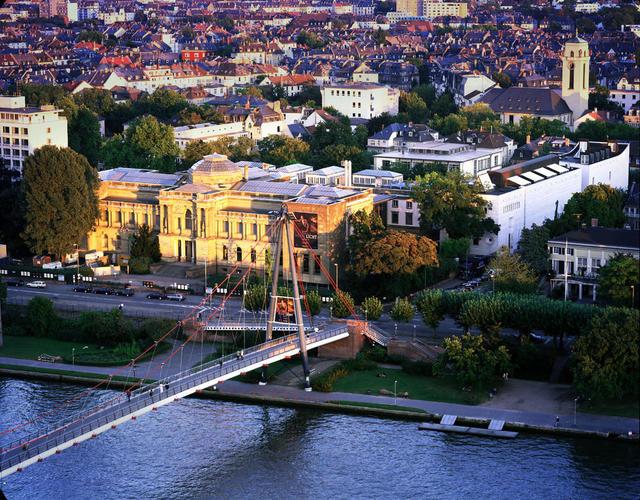 Luftaufnahme des Städel Museums in Frankfurt