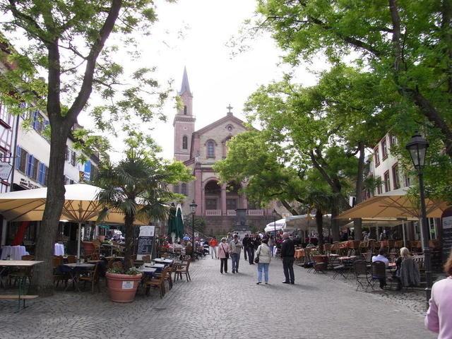 Der Marktplatz in Weinheim