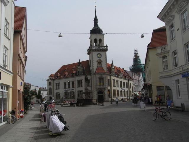 Am Marktplatz in Güstrow