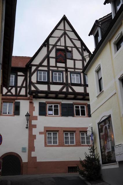 Das prächtige Fachwerk des Molitorschen Hauses in Weinheim