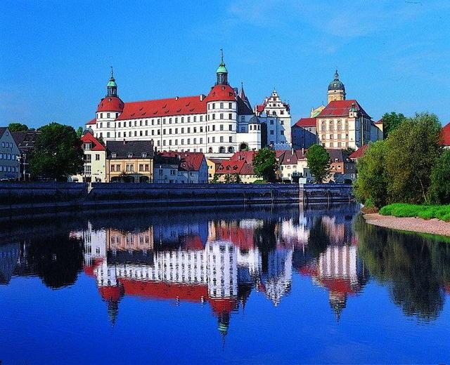 Die schöne Stadt Neuburg an der Donau