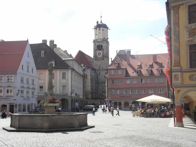 Brunnen am Memminger Marktplatz