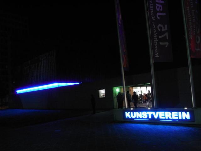 Kunstverein Mannheim bei Nacht
